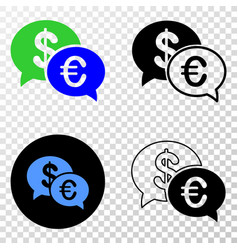 financial chat eps icon with contour vector image