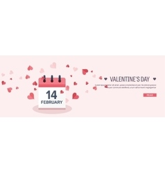 Flat background with calendar vector