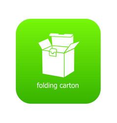 folding carton icon green vector image