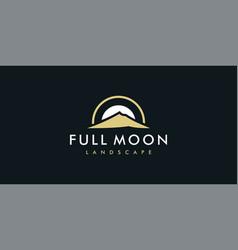 Full moon logo vector