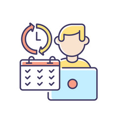 Full time job rgb color icon vector