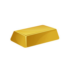 Gold bar banking business prosperity treasure vector