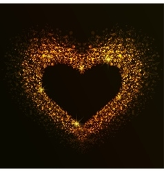 golden heart notes vector image