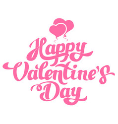 happy valentines day hand drawing with balloons vector image
