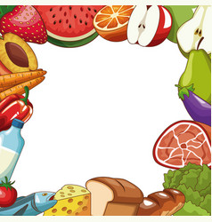 healthy food frame concept vector image