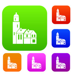 houses set collection vector image