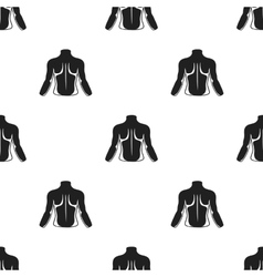 Human back icon in black style isolated on white vector