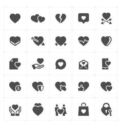 icon set - heart vector image