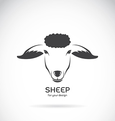 Image of a sheep head design vector image