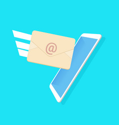 income email envelope messenger application blue vector image