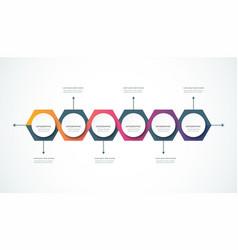 infographics timeline design template 1-23-17 vector image