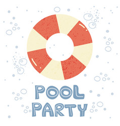 Invitation to pool party vector