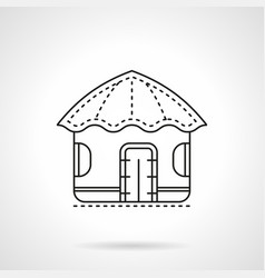 island hut flat line icon vector image
