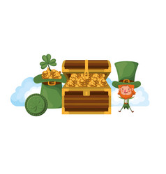 leprechaun standing with chest avatar character vector image
