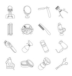 Male barber symbol clipper and other equipment vector