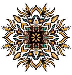 Mandala Square ornament vector