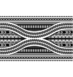 Maori style armband horizontal ornament seamless vector