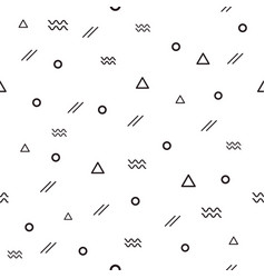 memphis pattern 80s-90s styles with different vector image