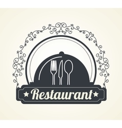 Menu restaurant cover icon vector