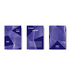 minimal cover poster set blue vibrant cover vector image