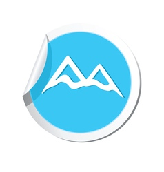 mountain icon round blue vector image