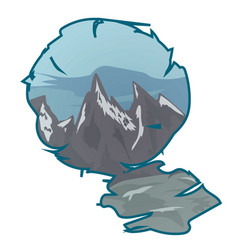 mountain landscape in a frame vector image