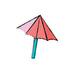 Nice umbrella open to protect of sun vector