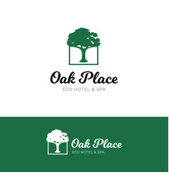 Oak logo for hotel and spa salon vector