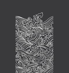 ocean wave seamless black background vector image
