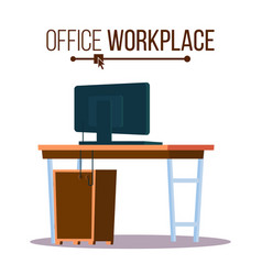 office workplace concept furniture vector image