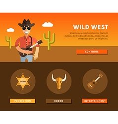 People Character Cowboy Profession Concept Flat vector