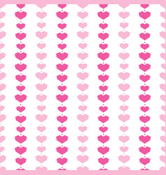 pink geometric hearts stripes seamless pattern vector image