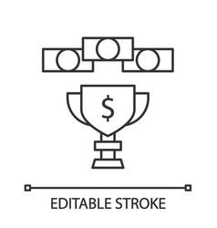 Prize money linear icon vector
