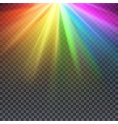 Rainbow glare spectrum with gay pride colors vector