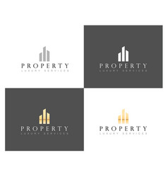 real estate luxury home logo house property and vector image
