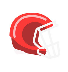 red solid helmet with lattice for american vector image