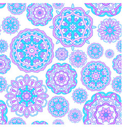 Seamless pattern made from abstract mandalas vector