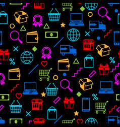 seamless pattern with sale items online shopping vector image