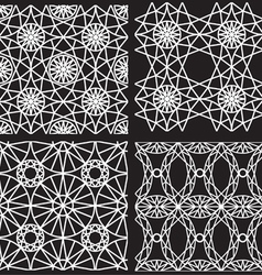 Seamless white pattern from diamond cutting vector