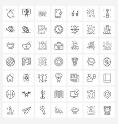 Set 49 universal line icons hair falls vector