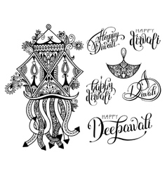 Set of black and white hand drawing design element vector