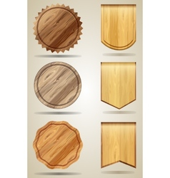 Set of wood elements for design vector image