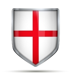 Shield with flag England vector
