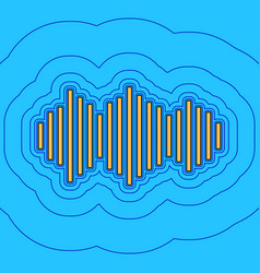 sound waves icon sand color icon with vector image