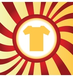 T-shirt abstract icon vector