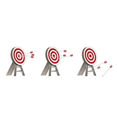 Targets with arrows vector
