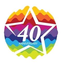 Template Logo 40 Anniversary vector