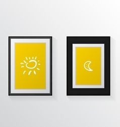 two poster mock-ups vector image