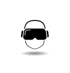 vr glasses vector image