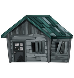 Wooden house on white background vector